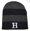BEANIE - NAVY/GRAY STRIPED