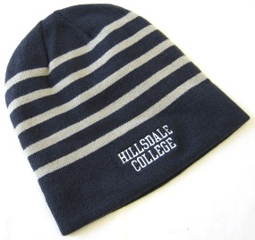 Image For BEANIE - NAVY BLUE/GRAY STRIPED