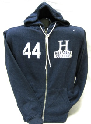 Image For HOODED SWEATSHIRT - NAVY BLUE FULL ZIP