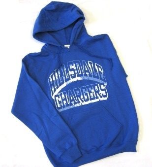 Image For HOODED SWEATSHIRT - ROYAL BLUE