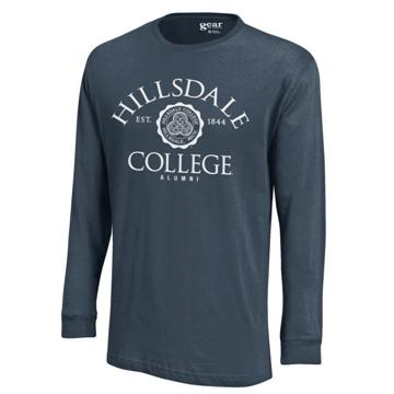 Cover Image For T-SHIRT - LONG SLEEVE NAVY ALUMNI