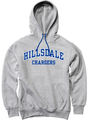 Image For HOODED SWEATSHIRT - GRAY CHARGERS