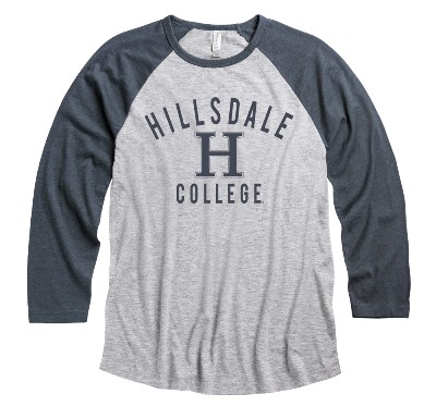 Cover Image For T-SHIRT - LONG SLEEVE GRAY/NAVY HEATHER