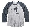 Image for T-SHIRT - LONG SLEEVE GRAY/NAVY HEATHER
