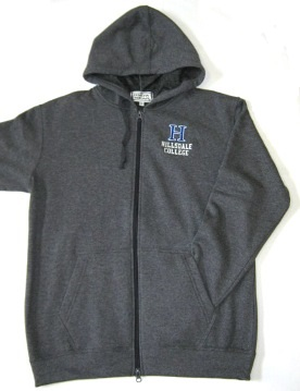Image For HOODED SWEATSHIRT - GRAY FULL ZIP