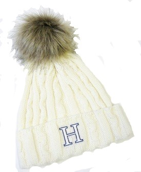 Image For HAT - CREAM CABLE KNIT