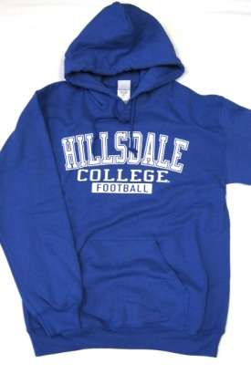 Cover Image For HOODED SWEATSHIRT - ROYAL BLUE FOOTBALL