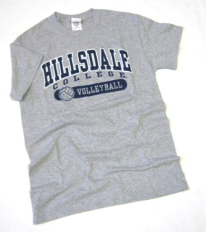 Cover Image For T-SHIRT - GRAY VOLLEYBALL