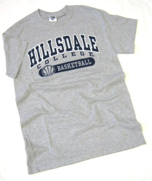 Image For T-SHIRT - GRAY BASKETBALL
