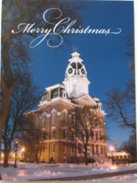 Cover Image For CHRISTMAS CARD - CENTRAL HALL AT NIGHT