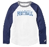 Image for T-SHIRT - WHITE/ROYAL BLUE LONG SLEEVE YOUTH