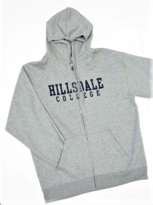 Cover Image For HOODED SWEATSHIRT - GRAY FULL ZIP
