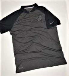 Image For GOLF SHIRT - GRAY/NAVY BLUE