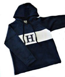 Cover Image For HOODED FLEECE - NAVY BLUE/WHITE YOUTH