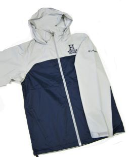 Cover Image For WINDBREAKER JACKET - NAVY BLUE/GRAY